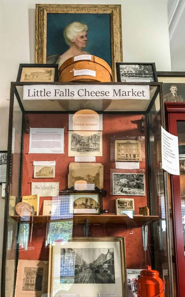 Little Falls Cheese Market display at the Little Falls Historical Society Museum.