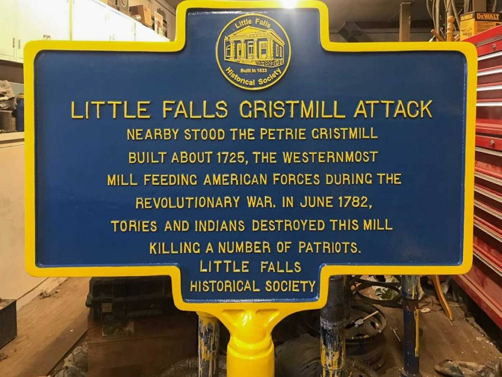 Little Falls Grist Mill Attack historic marker | Little Falls Historical Society Museum