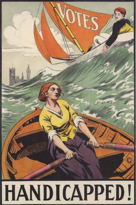 British Artists' Suffrage League poster 1909, Library of Congress | Little Falls Historical Society Museum