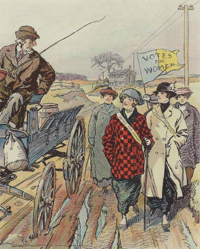 Illustration for Puck (March 14, 1914), Library of Congress | Little Falls Historical Society Museum
