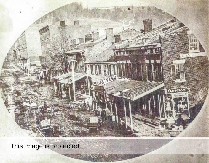 Main Street in Little Falls, 1863