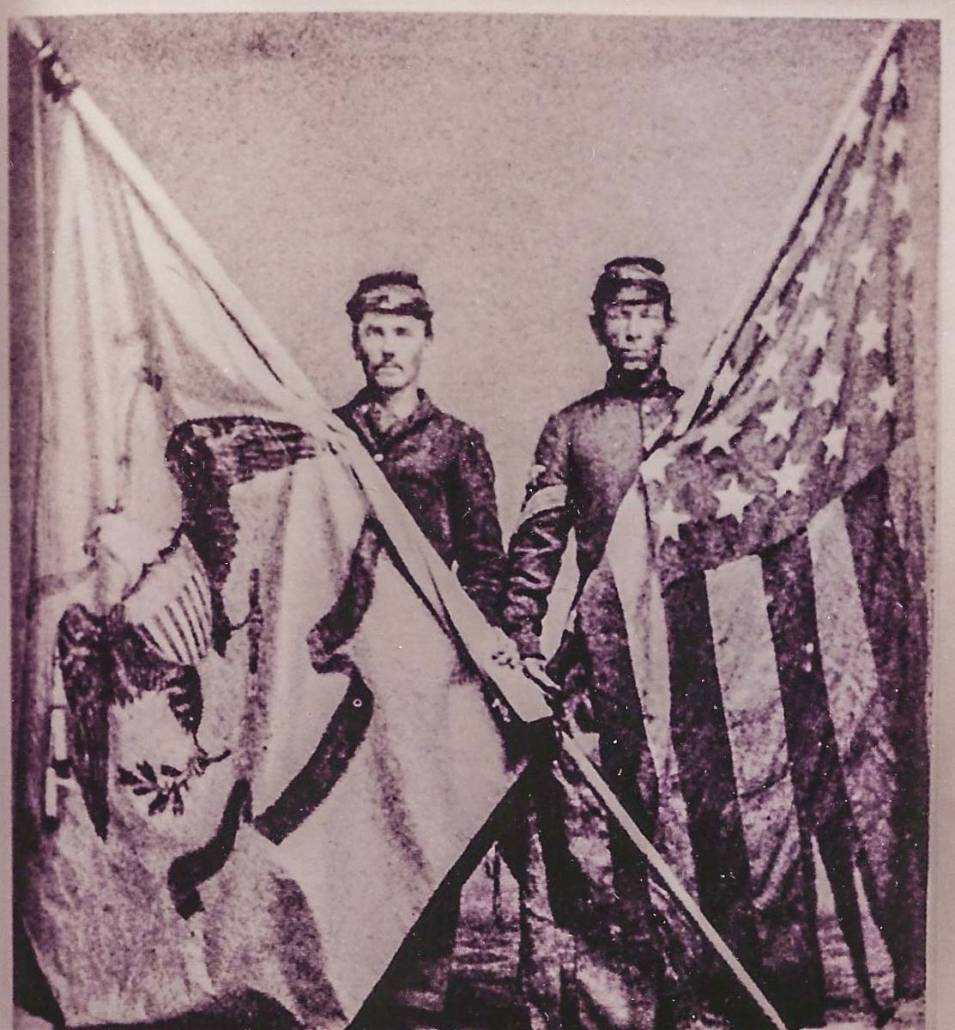 The National Colors and Regimental Flag of the 34th N.Y.