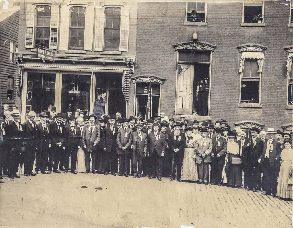 Reunion of the 'boys' of the 121st N.Y. in Little Falls, 1912.