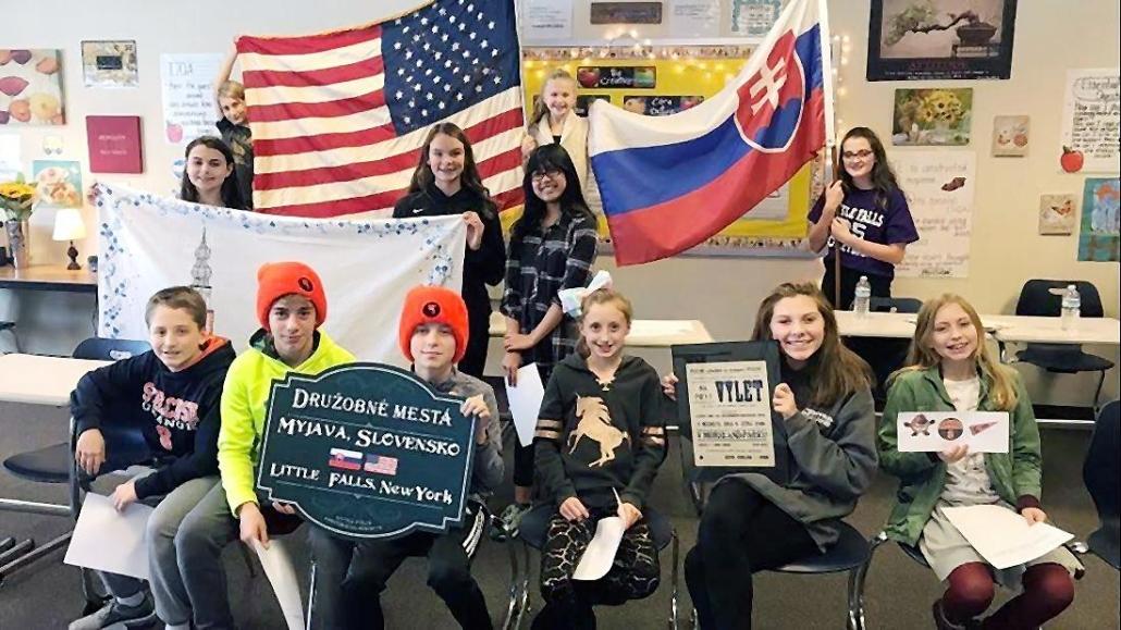 Little Falls Middle School Students