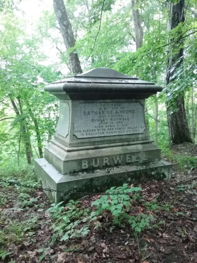Inscription on Dudley Burwell monument.